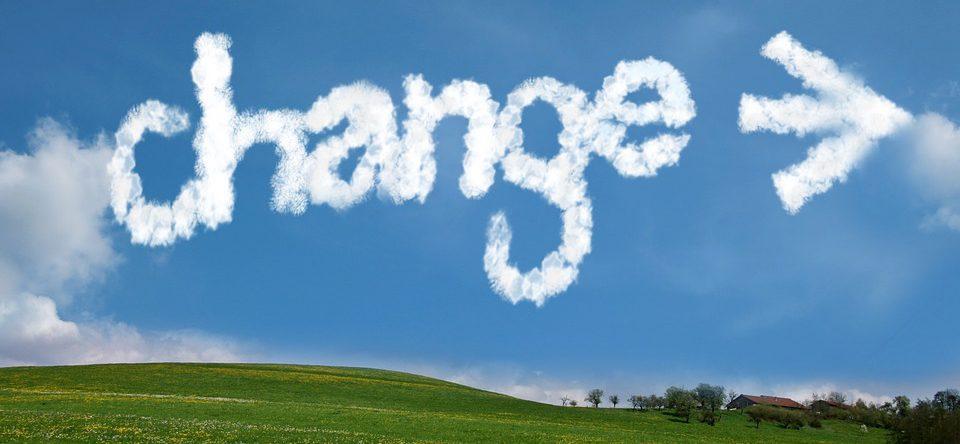 Himmel, Veränderung