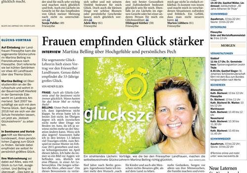 Nordwest-Zeitung – 10.09.2016