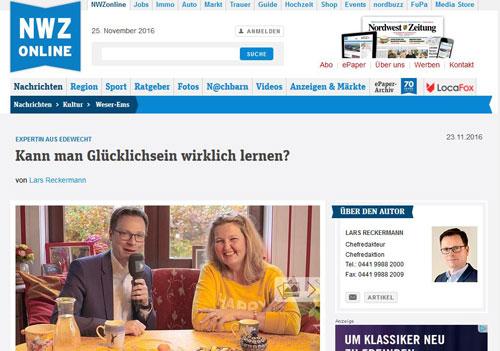 Nordwest-Zeitung – 25.11.2016